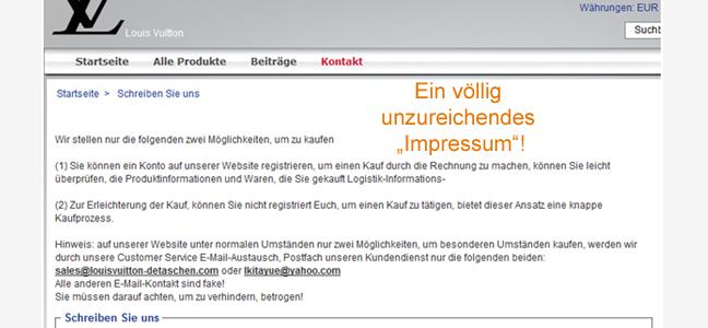 Watchlist Internet Warnung Vor Einkäufen Bei Wwwlouisvuitton
