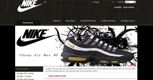 """newest collection 1cb37 69c99 Auf www.nikeschuhegunstig.com werden Fälschungen von Produkten der Firma """" Nike"""" verkauft"""