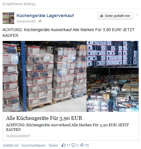 Watchlist Internet B2b Abzocke Mit Kuchengeraten