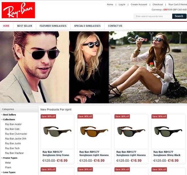 ray ban online sale  bei den auf onlineraybansale angebotenen sonnenbrillen handelt es sich um fakes! (screenshot 1.4.2014).