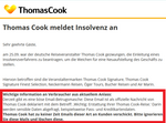 Kriminelle nützen Thomas Cook Insolvenz für Phishing-Attacken
