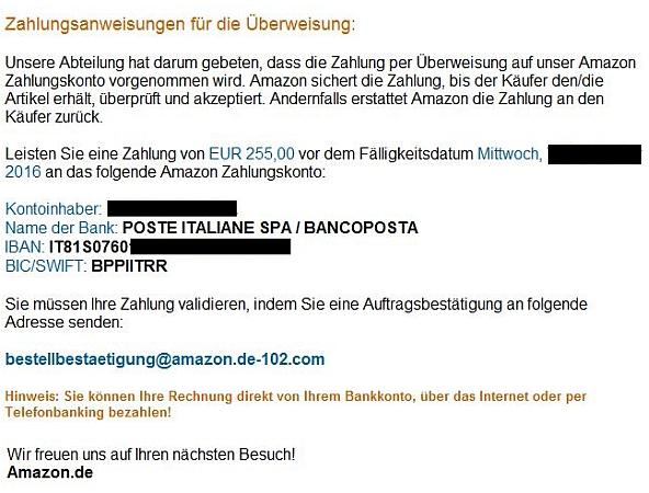 Fake Bankkonto