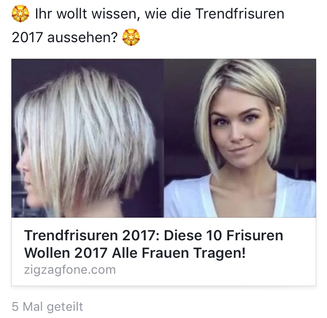 Watchlist Internet Wie Die Trendfrisuren 2017 In Einen Abovertrag