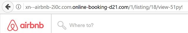 Ein Airbnb Betrug ist immer dann besonders erfolgreich, wenn die falsche Webseite dem Original zum verwechseln ähnlich sieht. Quelle: watchlist-internet.at