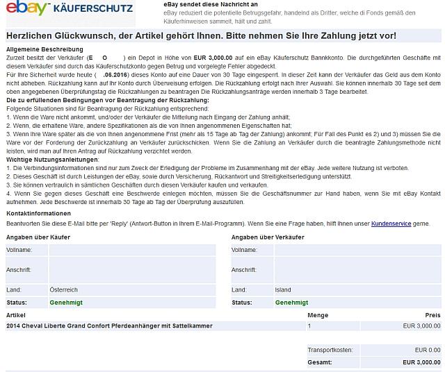 Watchlist Internet Betrug Mit Unechtem Ebay Käuferschutz