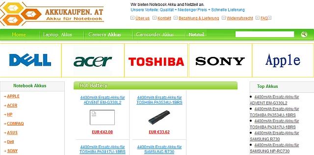 Watchlist Internet Der Chinesische Online Shop Akkukaufenat