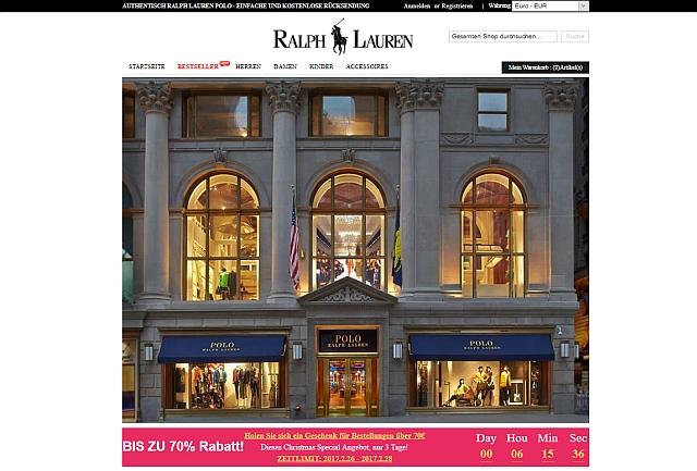 dabd8415398f03 Die Website ralphlaurensale.de. Der Online-Shop ralphlaurensale.de bot  günstige Mode von Ralph Lauren ...
