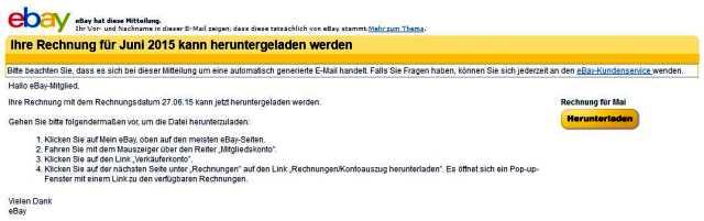 Watchlist Internet Gefalschte Ebay Phishingmails Im Umlauf