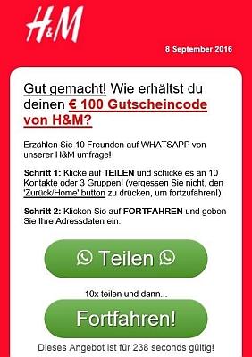 besucherinnen mssen die hm umfrage ber whatsapp teilen - Hm Bewerben