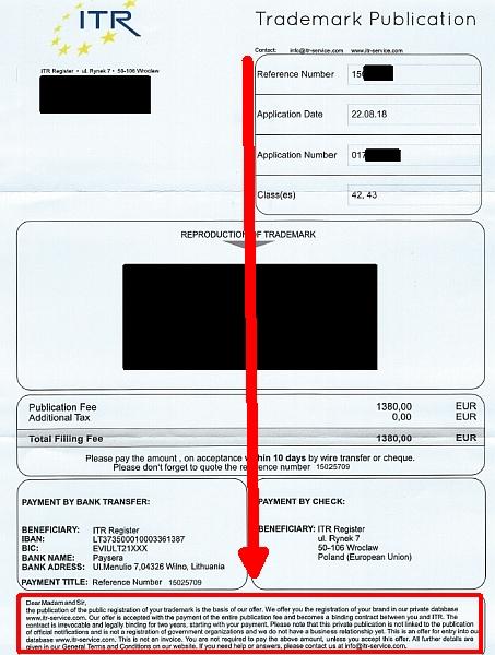 watchlist internet irref hrende rechnung von itr register. Black Bedroom Furniture Sets. Home Design Ideas