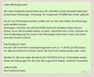 Liebes kettenbrief whatsapp Kettenbriefe WhatsApp